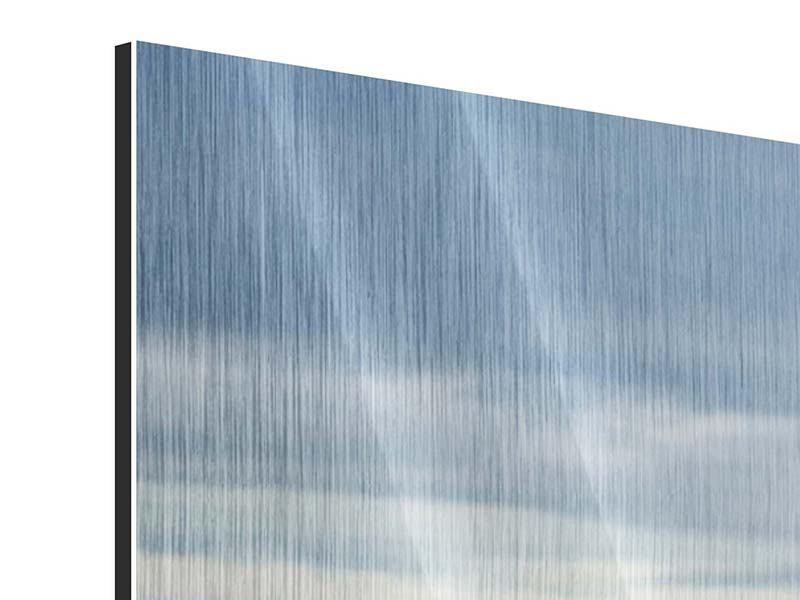Metallic-Bild Ein Vollblutpferd am Meer