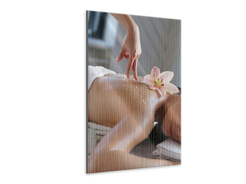 Metallic-Bild Spa Massage