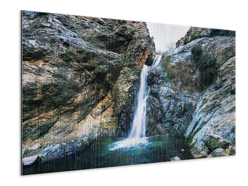 Metallic-Bild Bewegtes Wasser