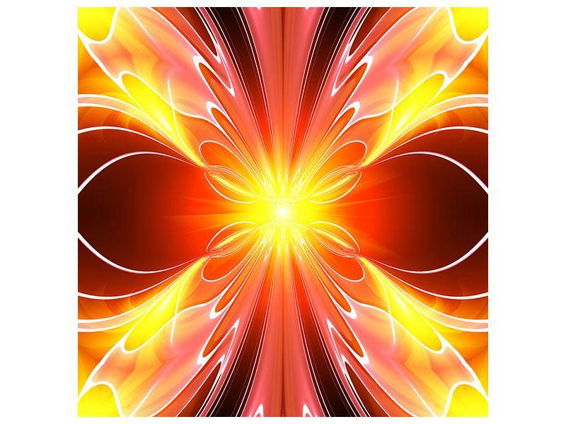 Metallic-Bild Abstraktes Farbenspektakel
