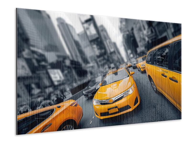 Metallic-Bild Taxi in NYC