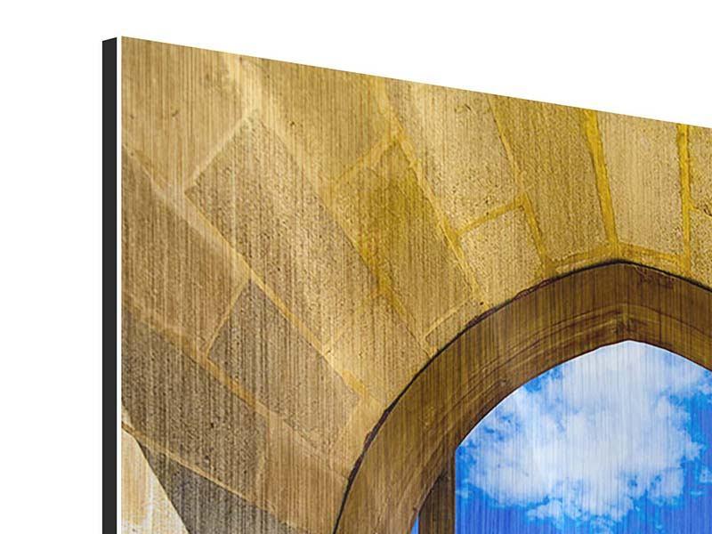 Metallic-Bild Das Tor zum Meer
