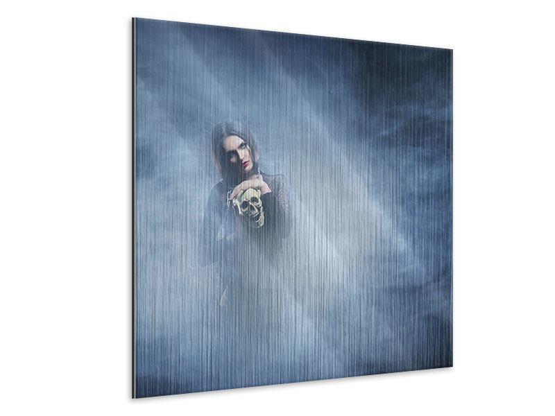 Metallic-Bild Das Geheimnis des Skulls