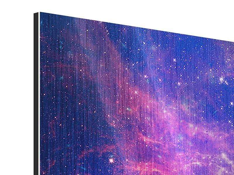 Metallic-Bild Das Universum