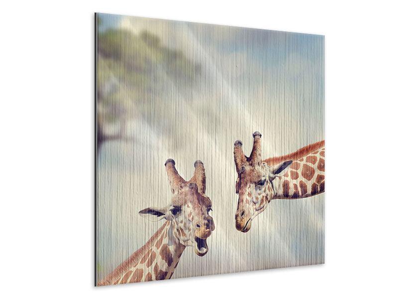 Metallic-Bild Giraffen