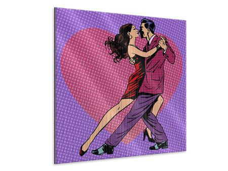 Metallic-Bild Pop Art Lambada