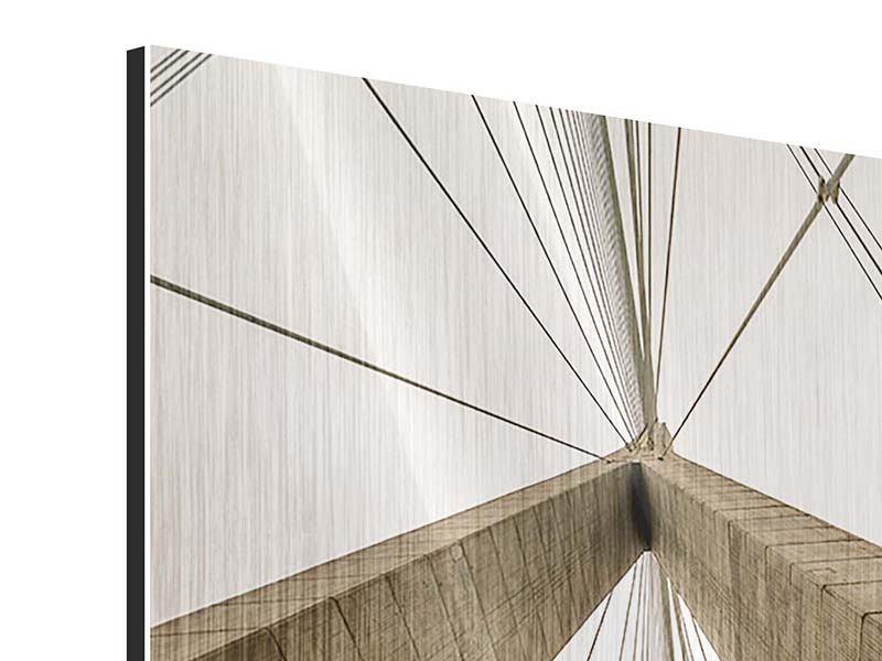 Metallic-Bild Brücke