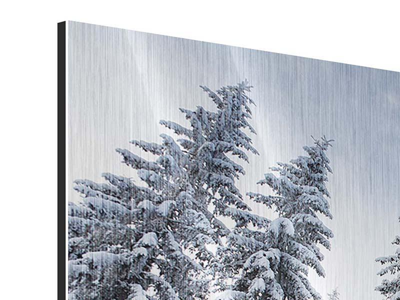 Metallic-Bild Wintertannen