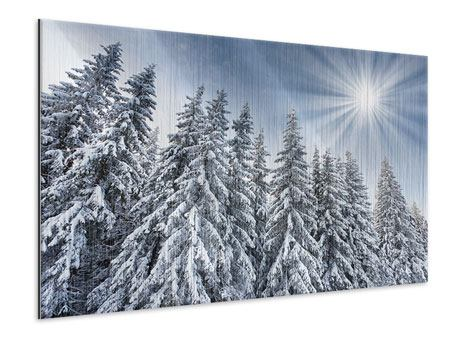Metallic-Bild Wintertannen