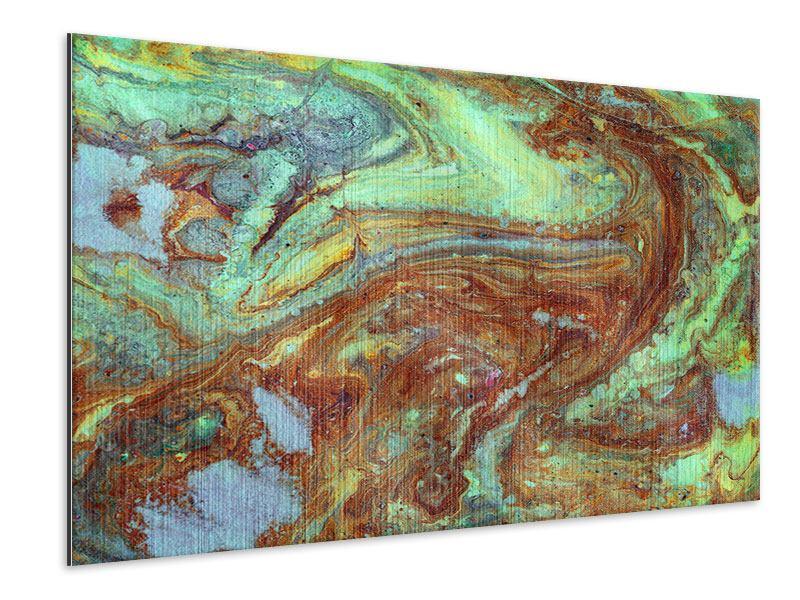 Metallic-Bild Marmor in Grün