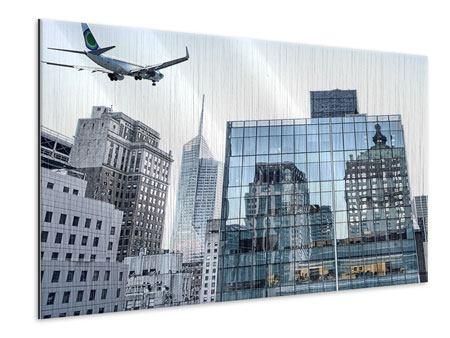 Metallic-Bild Wolkenkratzer NYC
