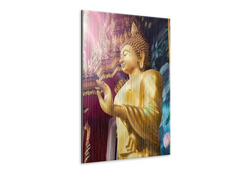 Metallic-Bild Buddha Skulptur