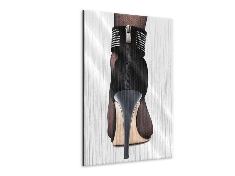 Metallic-Bild Der High Heel