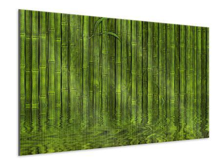 Metallic-Bild Wasserspiegelung Bambus