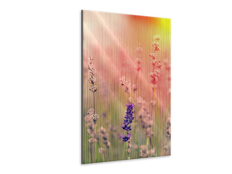 Metallic-Bild Der Lavendel