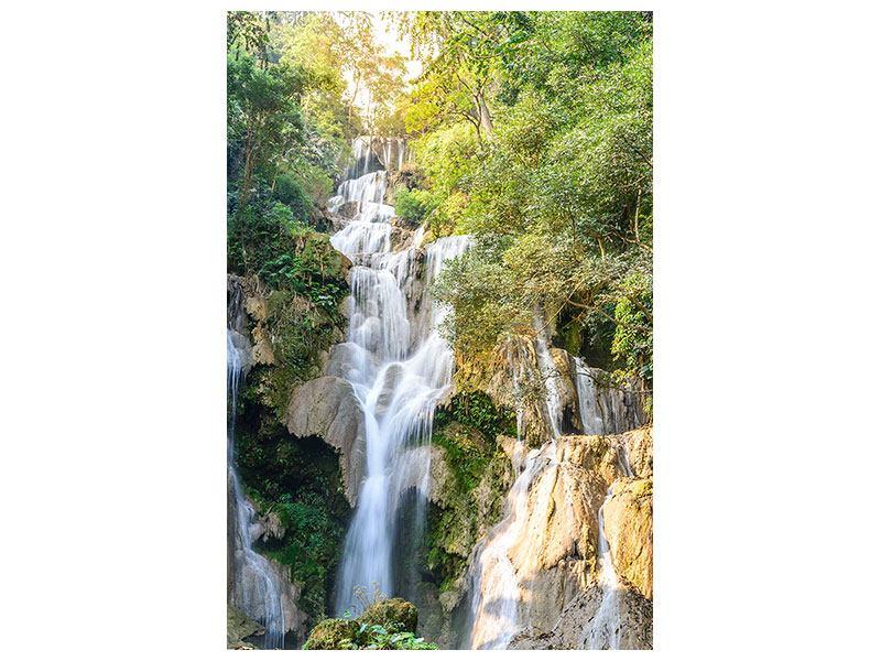 Metallic-Bild Berauschter Wasserfall
