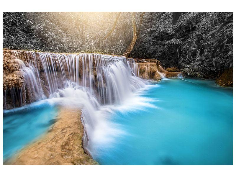 Metallic-Bild Glücklicher Wasserfall