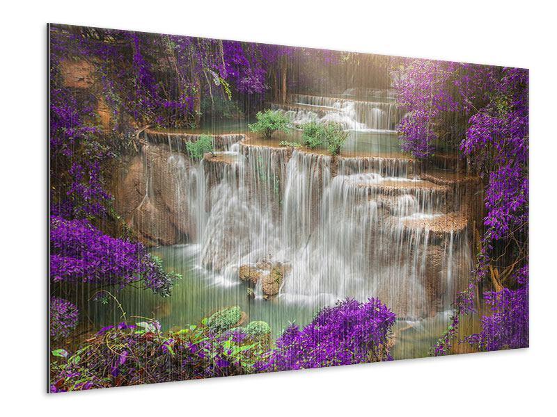 Metallic-Bild Garten Eden