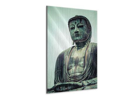 Metallic-Bild Meditierender Buddha