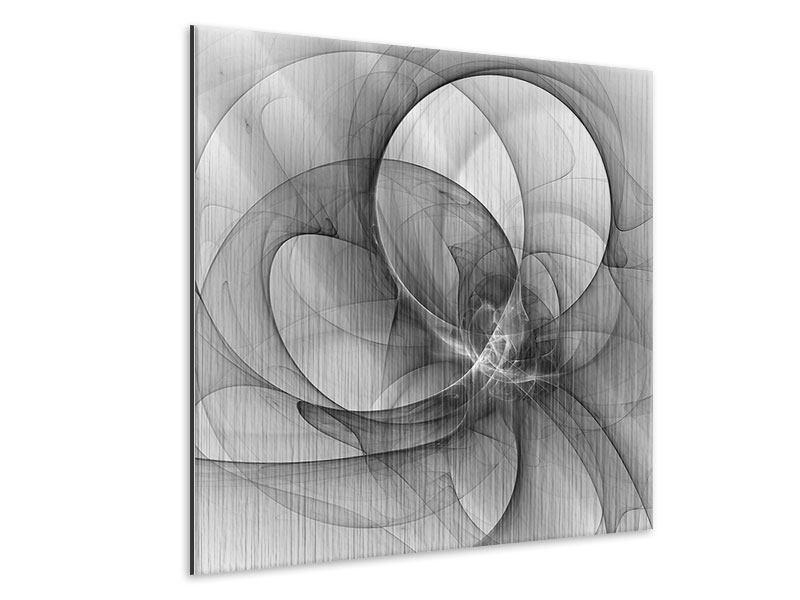 Metallic-Bild Abstrakte Kreisende Kreise
