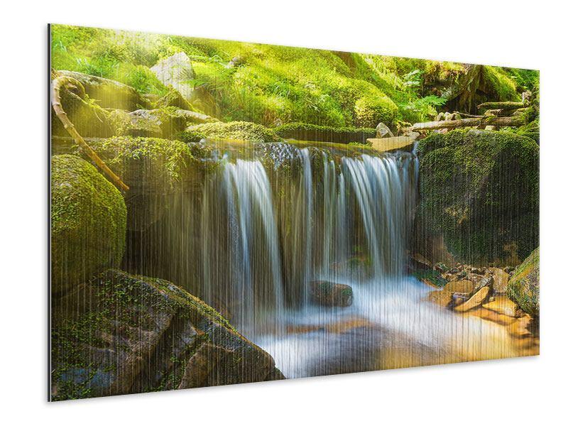 Metallic-Bild Schönheit des fallenden Wassers