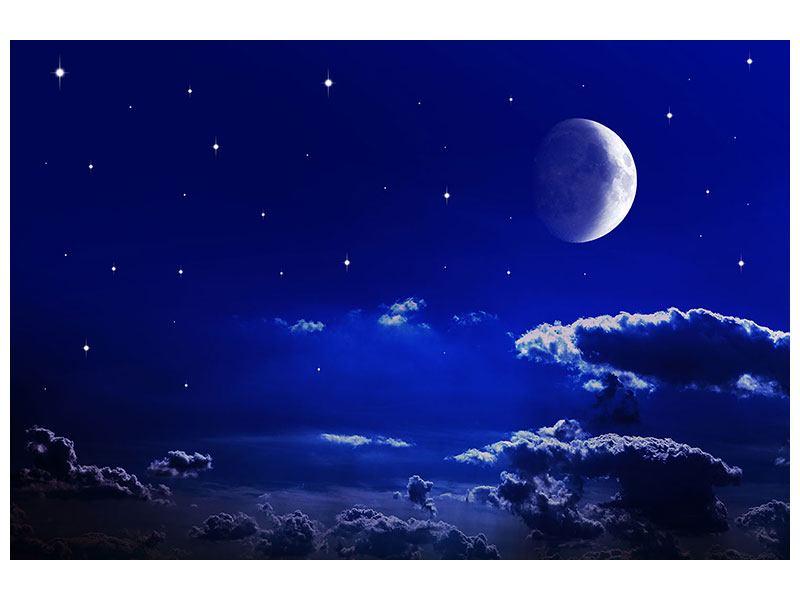 Metallic-Bild Der Nachthimmel