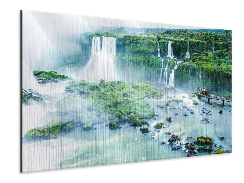 Metallic-Bild Wasserfälle