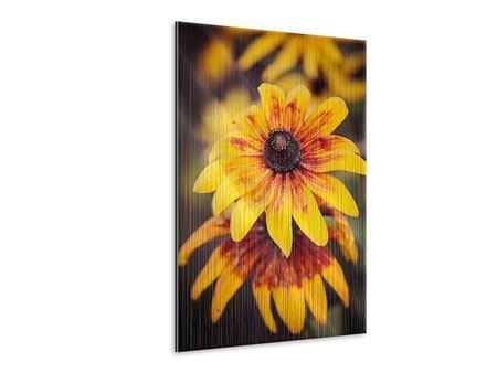 Metallic-Bild Fröhliche Blumen