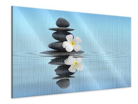 Metallic-Bild Zen Steine
