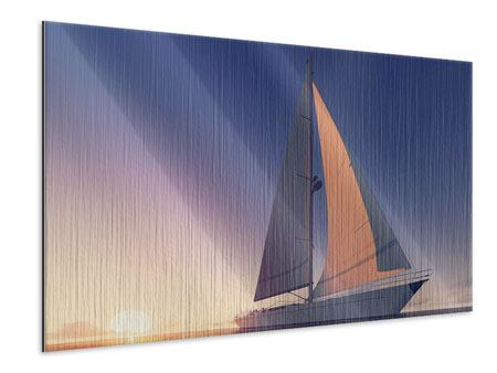 Metallic-Bild Das Segelschiff
