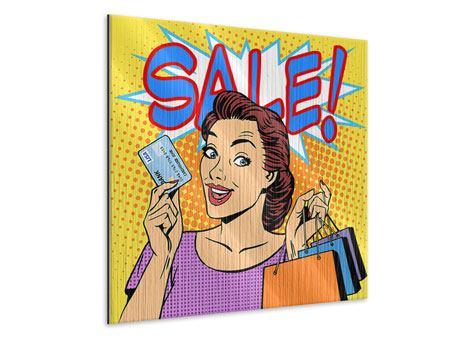 Metallic-Bild Pop Art Sale