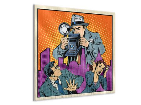 Metallic-Bild Pop Art Paparazzi