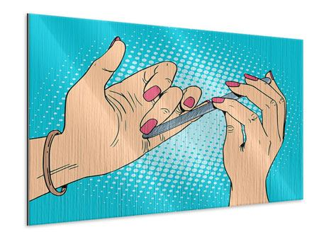 Metallic-Bild Pop Art Nails