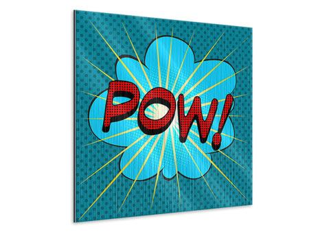 Metallic-Bild Pop Art Pow