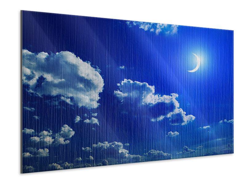 Metallic-Bild Der Mond