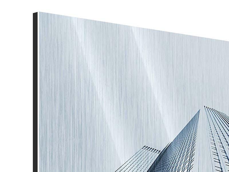 Metallic-Bild Hochhaus-Anblick