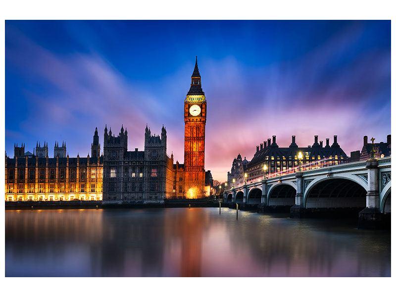 Metallic-Bild Nachts am Big Ben