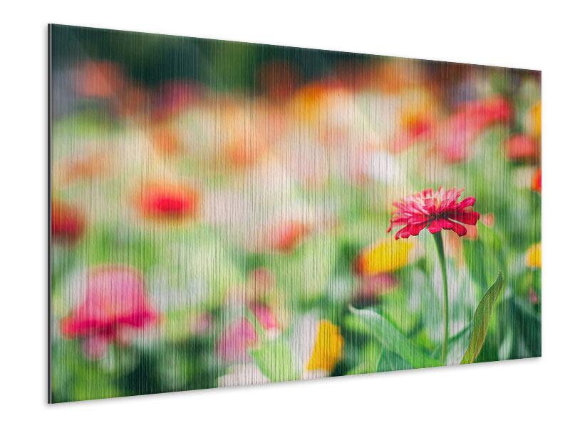 Metallic-Bild Im Blumengarten