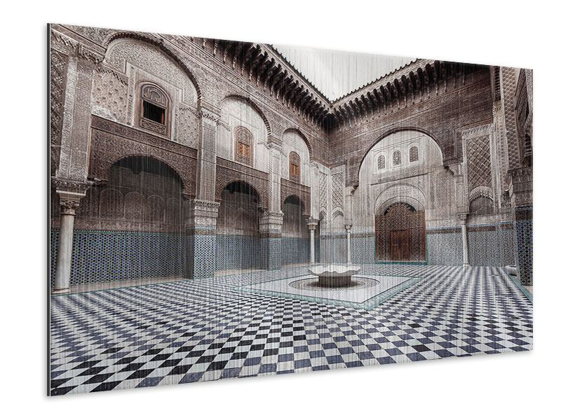 Metallic-Bild Orientalischer Hinterhof