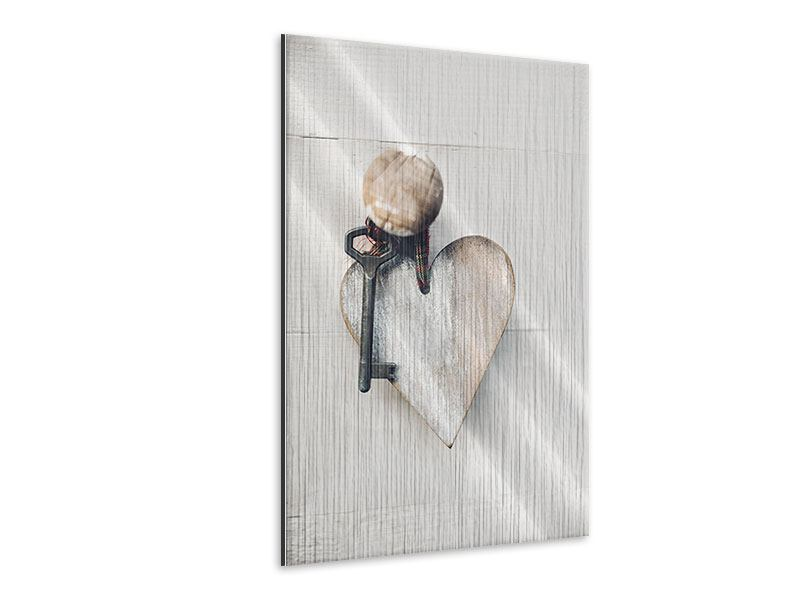 Metallic-Bild Herzschlüssel