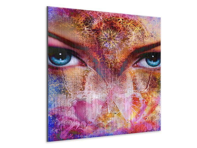 Metallic-Bild Psychedelic Face