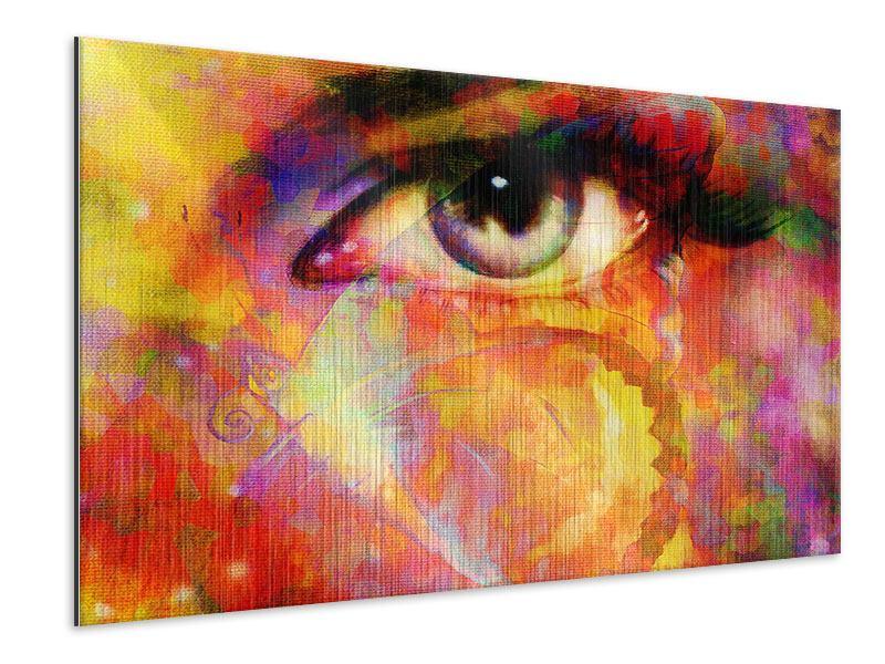 Metallic-Bild Das Auge