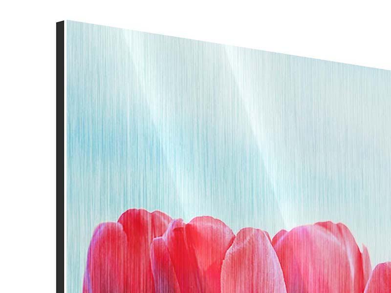 Metallic-Bild Rote Tulpen