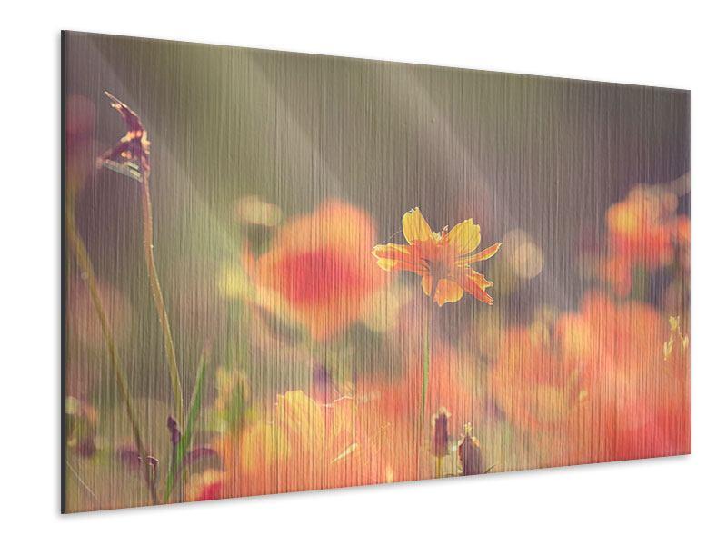 Metallic-Bild Blütenpracht
