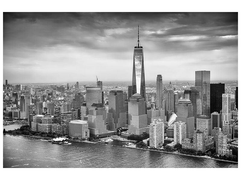 Metallic-Bild Skyline Schwarzweissfotografie New York