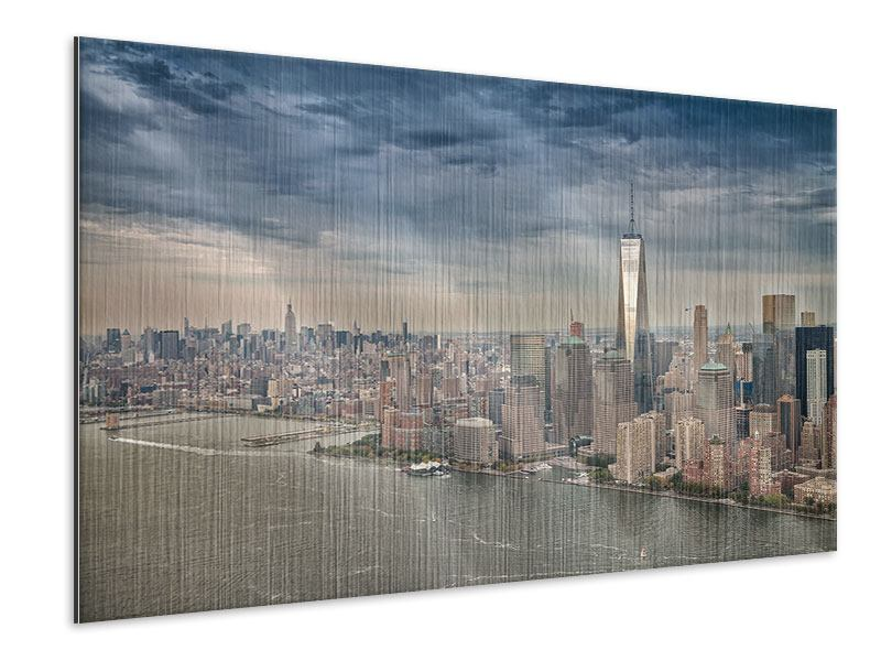 Metallic-Bild Skyline Manhattan