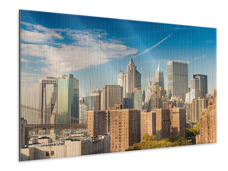 Metallic-Bild Skyline New York