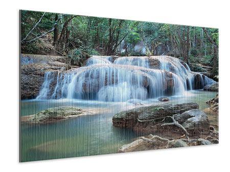 Metallic-Bild Ein Wasserfall
