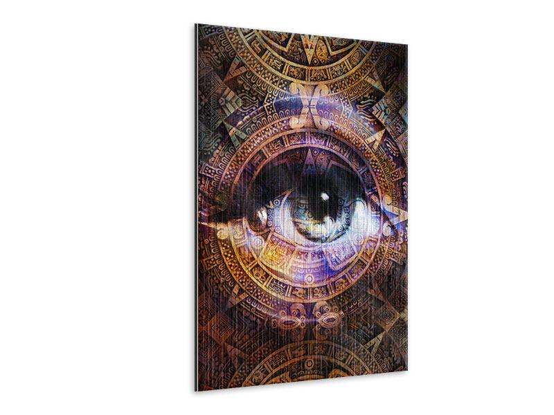 Metallic-Bild Psychedelic Eye