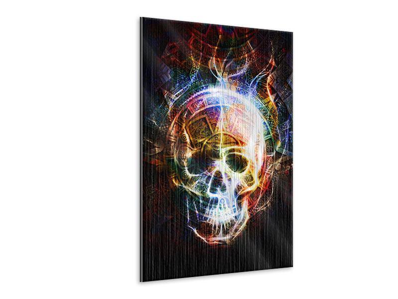 Metallic-Bild Psychedelic Skull